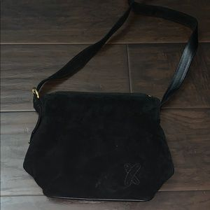 Black Suede Paloma Picasso Purse